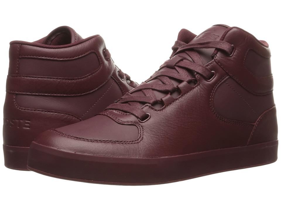 Lacoste - Vedren GMM (Burgundy) Men's Shoes