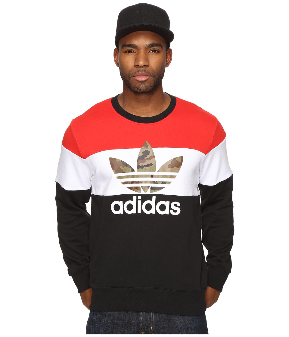 adidas Originals - Block it out Crew (Black) Men's Clothing