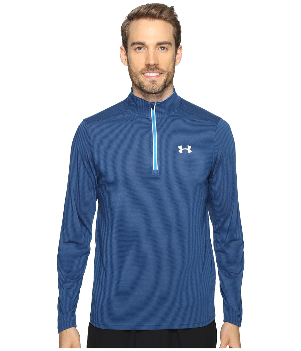 Under Armour - UA Streaker 1/4 Zip (Blackout Navy/Brilliant Blue) Men's Long Sleeve Pullover