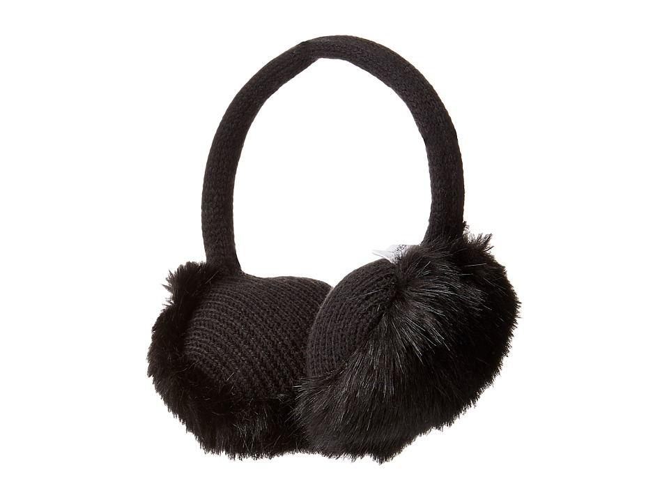 BCBGeneration - Basic Faux Fur Earmuffs (Black) Scarves