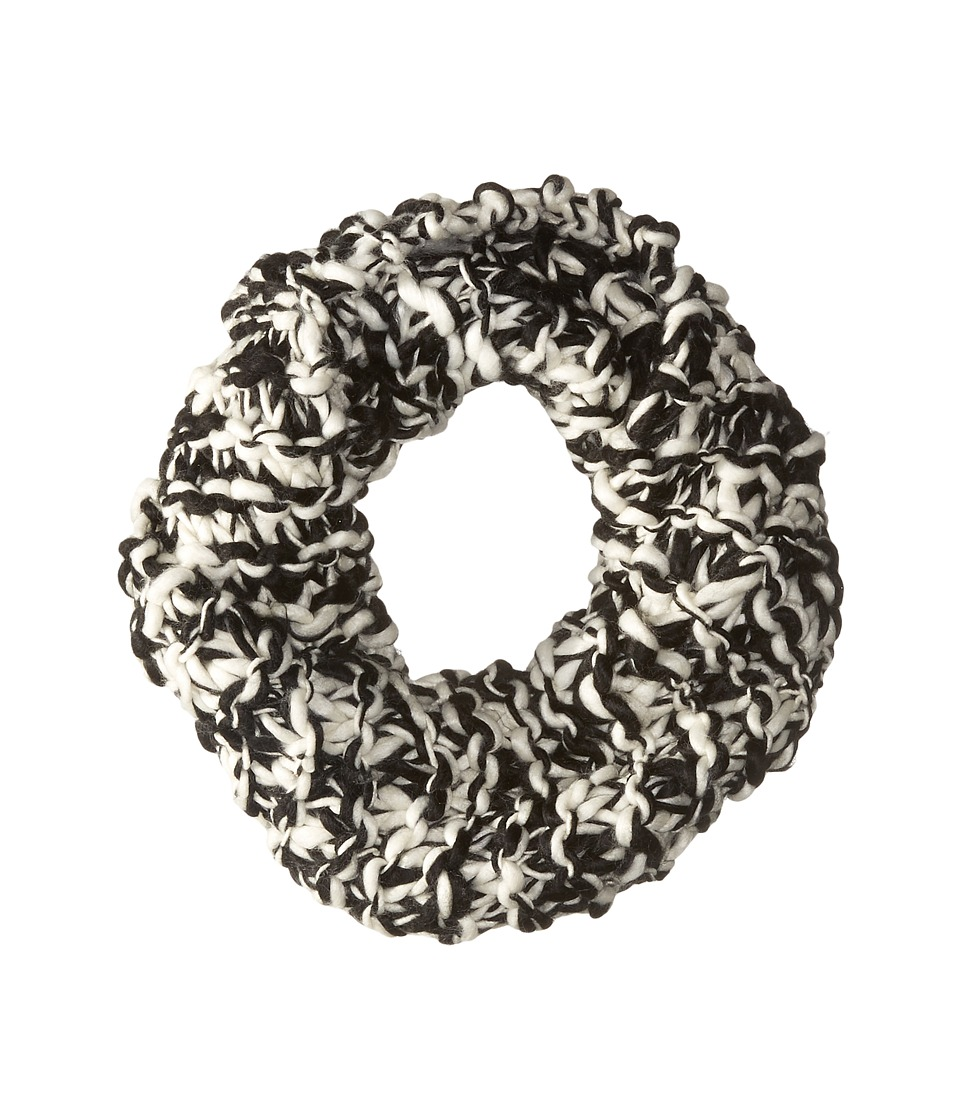 BCBGeneration - Chunky Two-Tone Cowl Scarf (Black) Scarves
