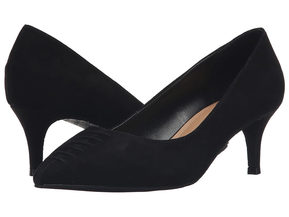 Tahari - Revolve (Black Kid Suede) High Heels