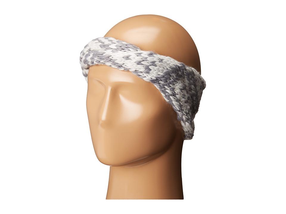 BCBGeneration - Two-Tone Twisted Headwrap (Grey Smoke) Caps