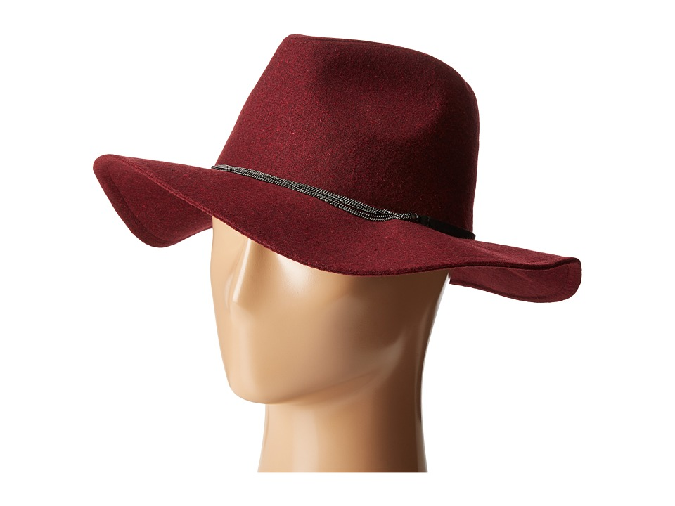 BCBGeneration - Delicate Chain Flannel Panama (Wine Red) Caps
