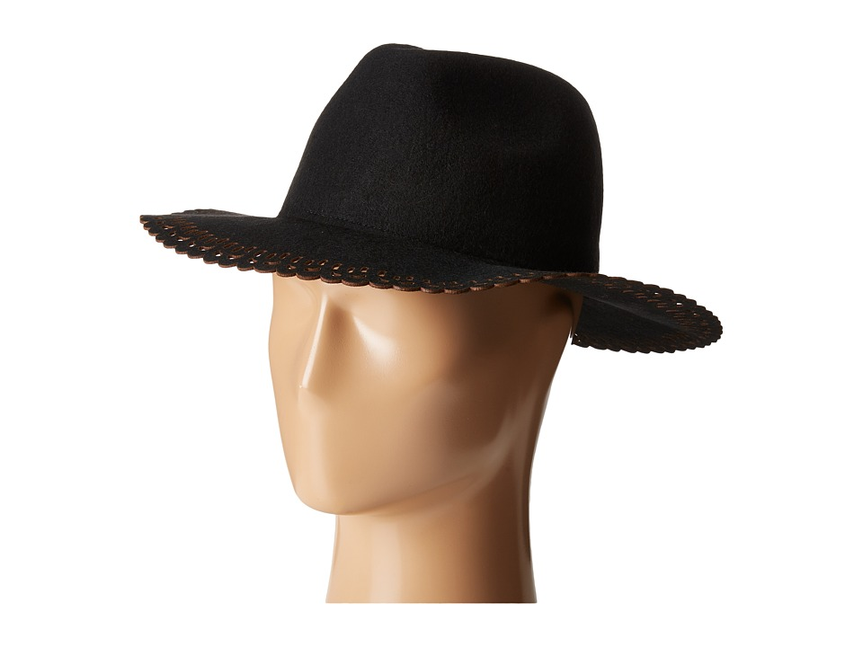 BCBGeneration - Lace Edge Panama (Black) Caps