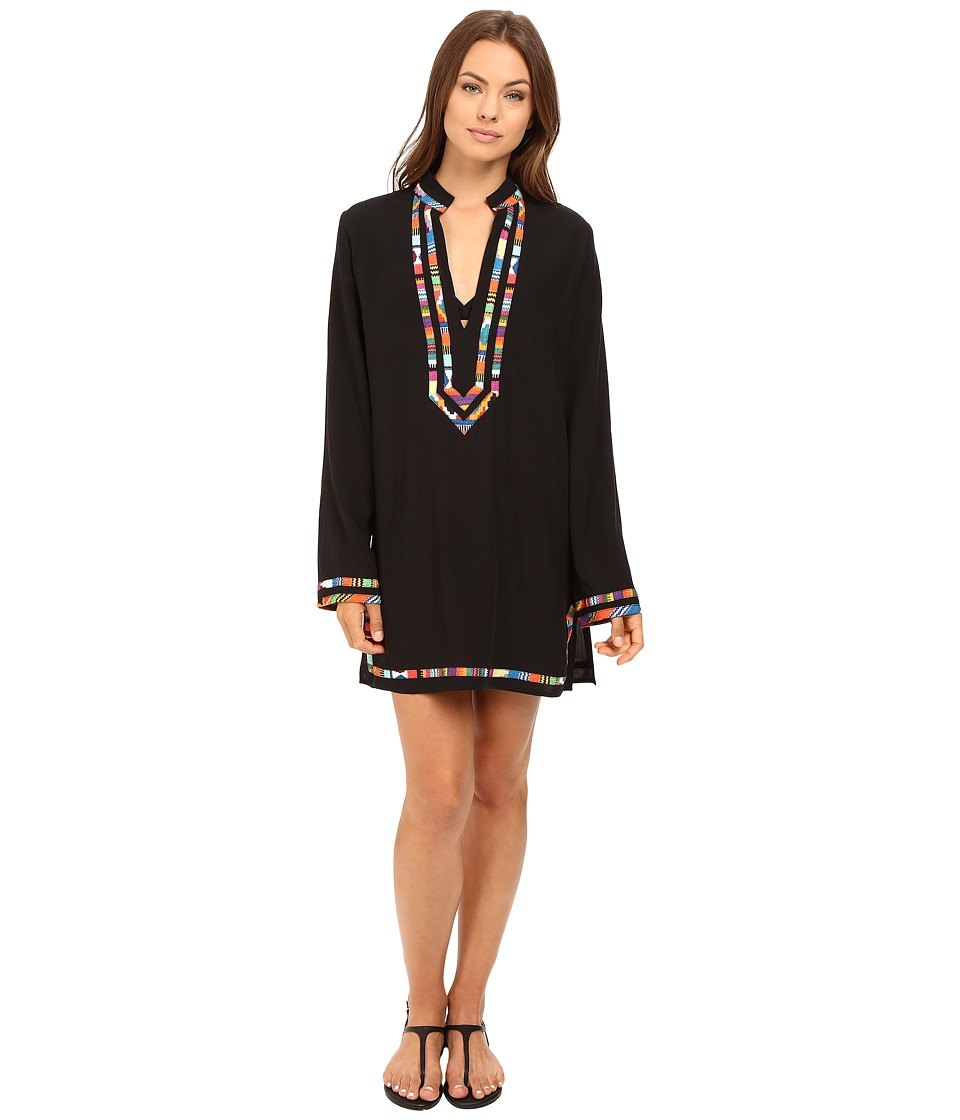 Nanette Lepore - Mambo Covers Tunic Cover-Up (Black) Women's Swimwear