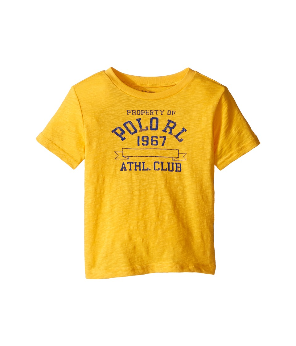 Ralph Lauren Baby - 30/1 Slub Graphic T-Shirt (Infant) (Gold Bugle) Boy's T Shirt