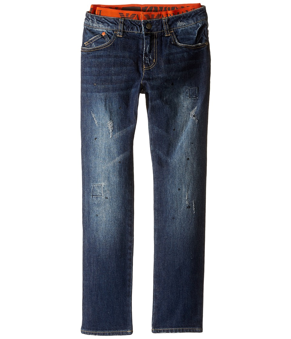 Armani Junior - Denim with Waistband in Denim Indaco (Toddler/Little Kids/Big Kids) (Denim Indaco) Boy's Jeans