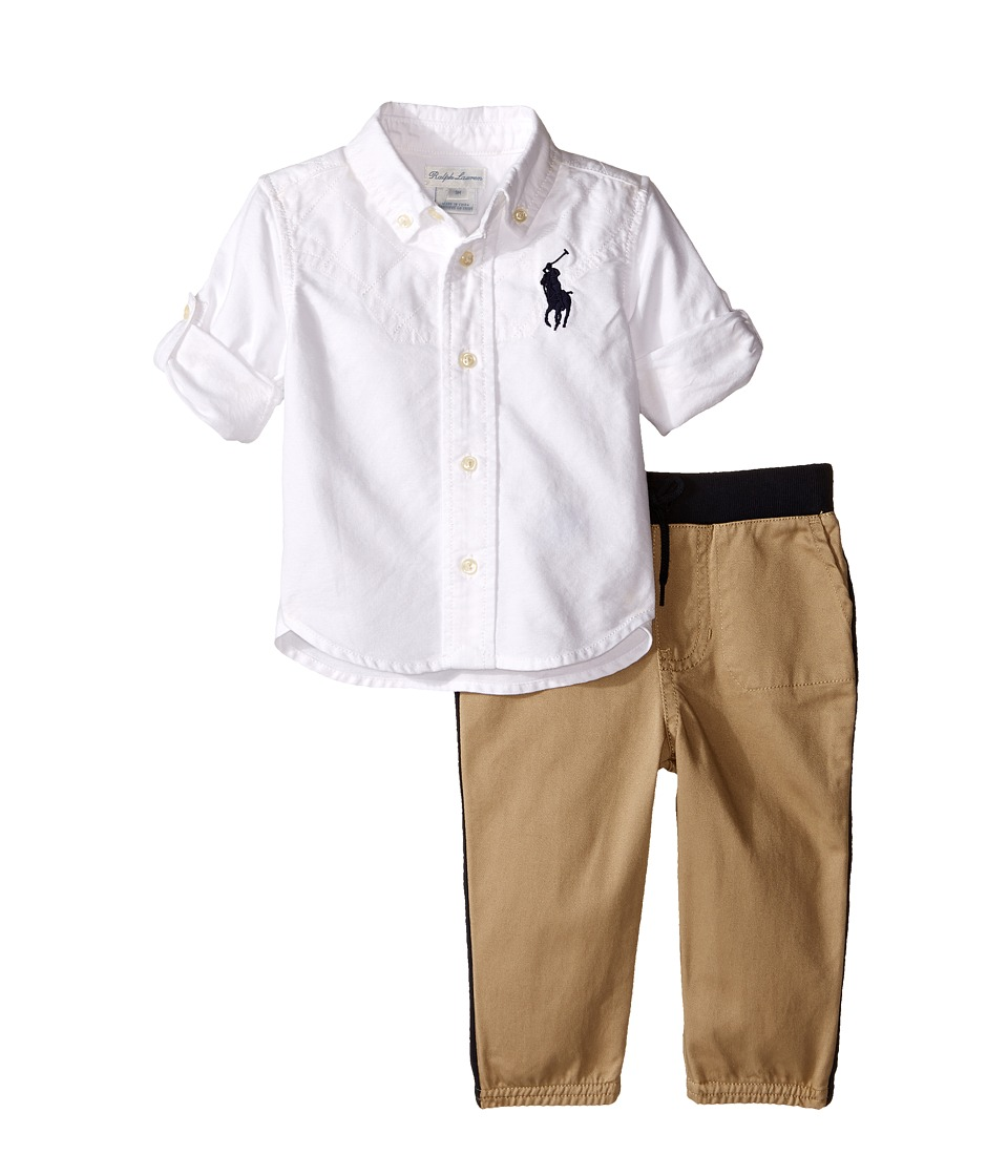 Ralph Lauren Baby - Oxford Jogger Pants Set (Infant) (White) Boy's Active Sets