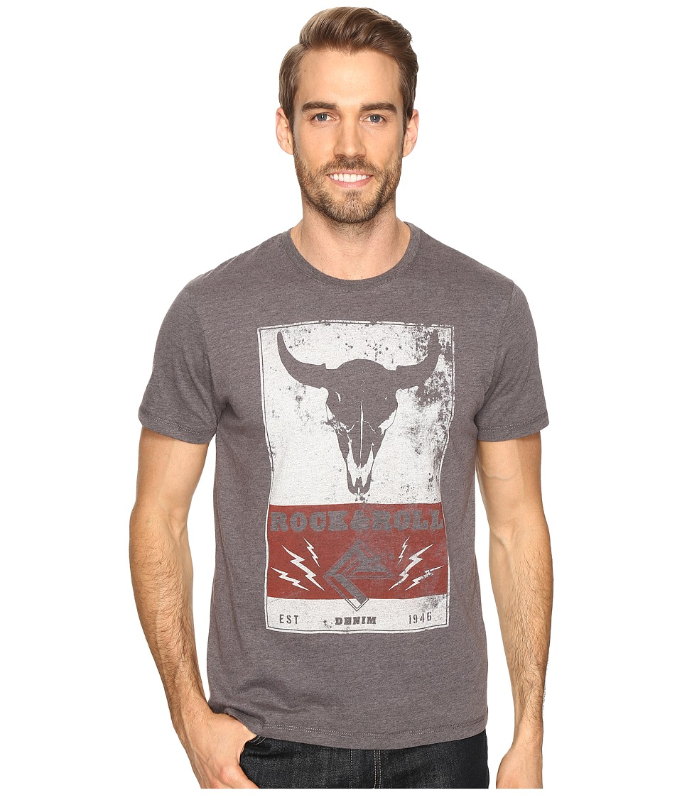 Rock and Roll Cowboy - Short Sleeve Tee P9-8064 (Charcoal) Men's T Shirt