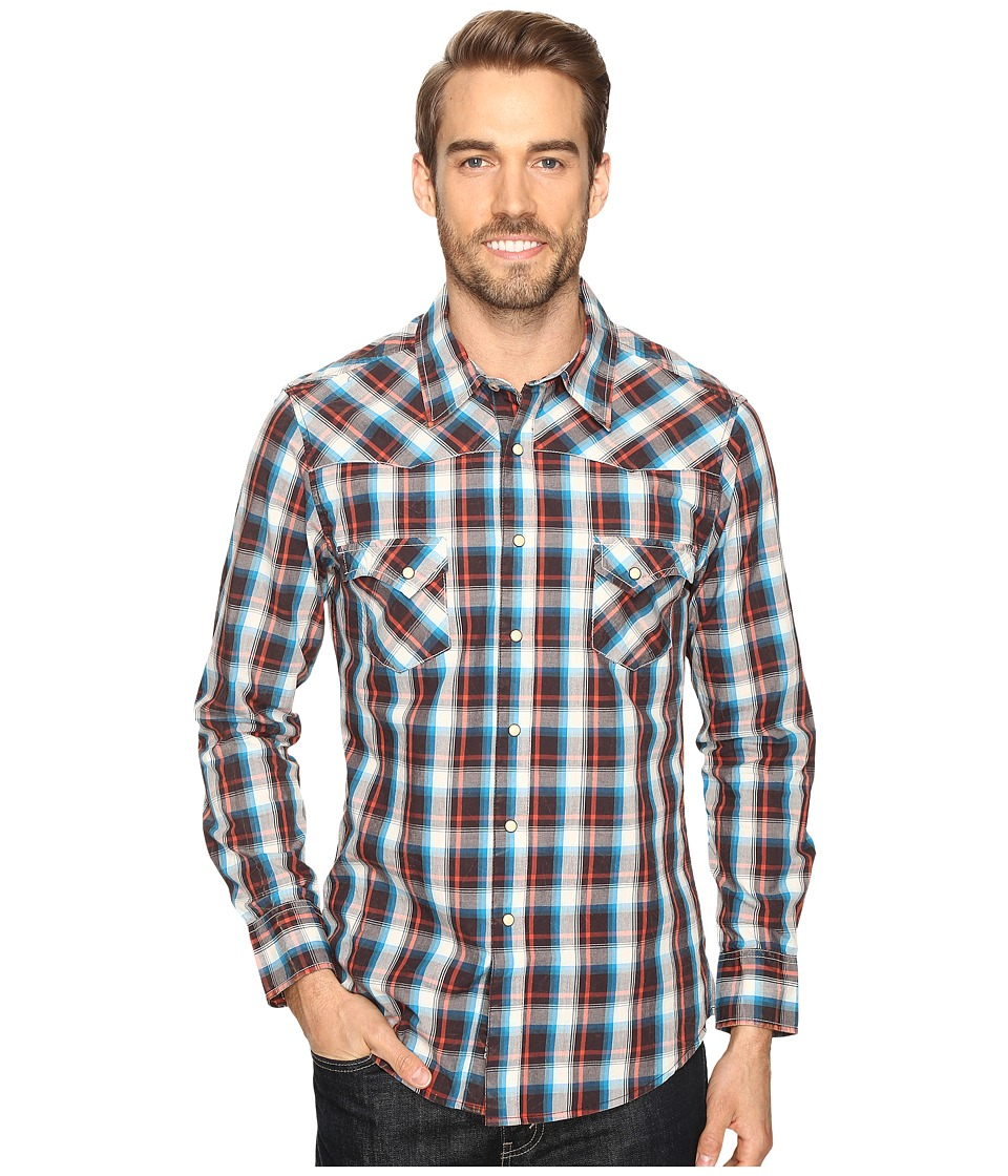 Rock and Roll Cowboy - Long Sleeve Snap B2S8401 (Rust/Brown) Men's Clothing