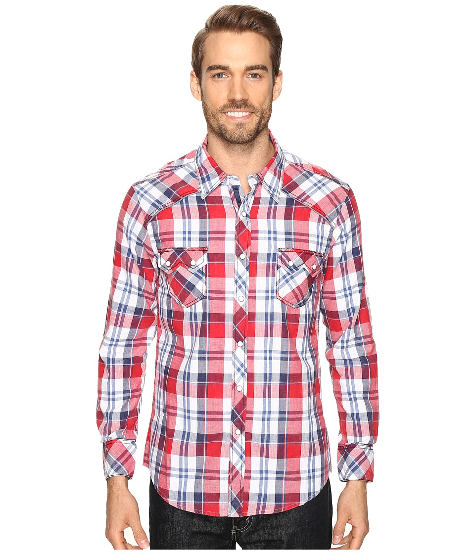 Rock and Roll Cowboy - Long Sleeve Snap B2S8419 (Red) Men's Clothing