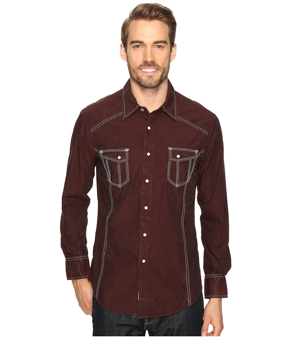 Rock and Roll Cowboy - Long Sleeve Snap B2S8418 (Rust) Men's Clothing