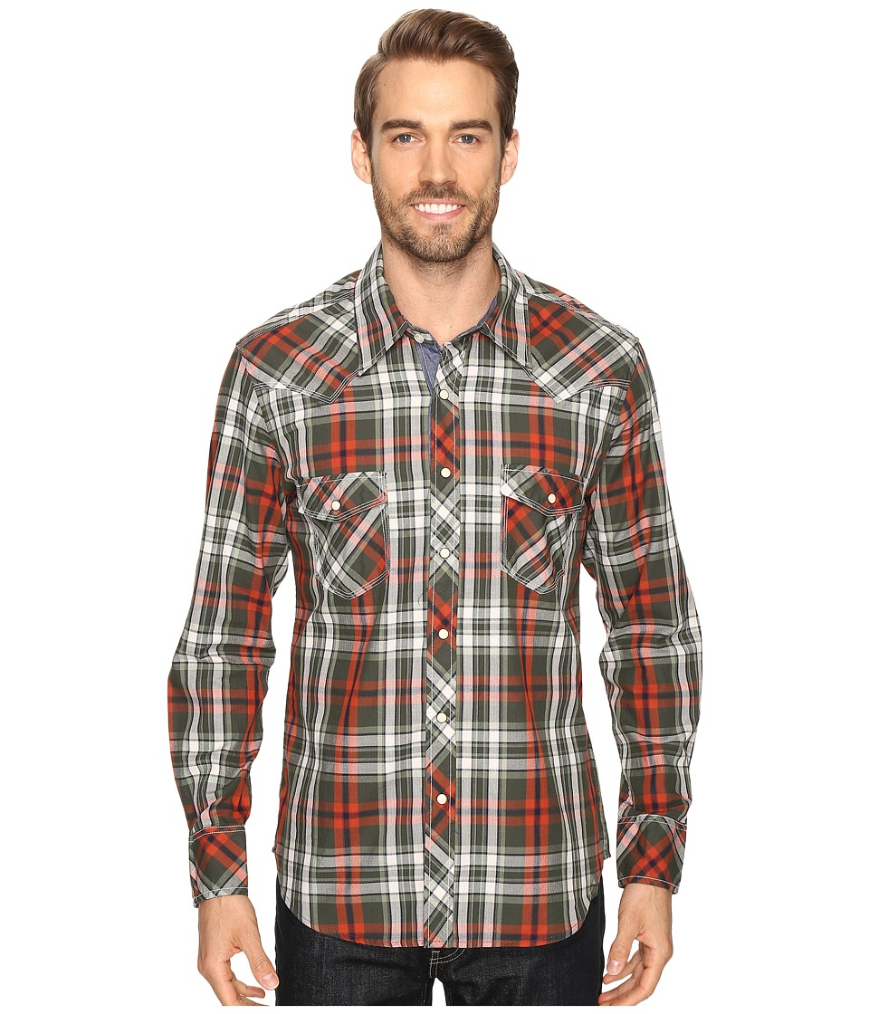 Rock and Roll Cowboy - Long Sleeve Snap B2S8410 (Rust) Men's Clothing