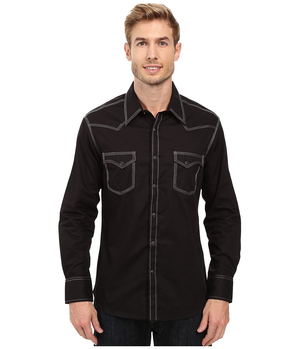 Rock and Roll Cowboy - Long Sleeve Snap B2S8415 (Black) Men's Clothing