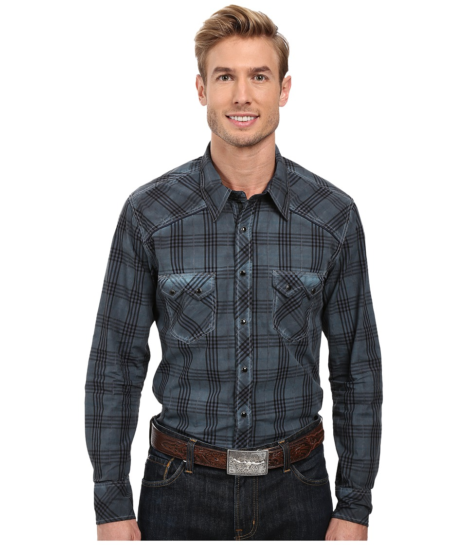 Rock and Roll Cowboy - Long Sleeve Snap B2S8409 (Turquoise) Men's Clothing