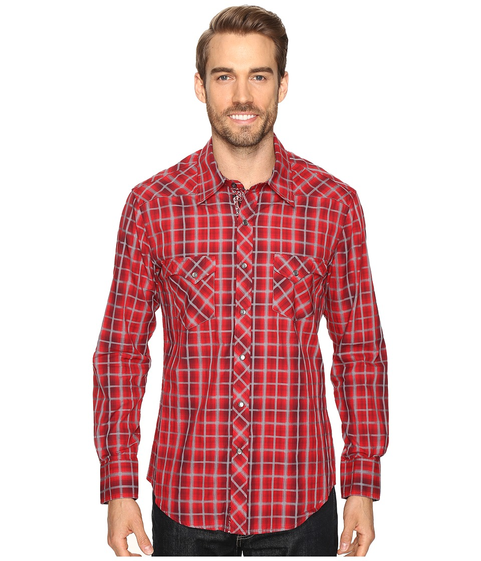 Rock and Roll Cowboy - Long Sleeve Snap B2S8402 (Red) Men's Clothing