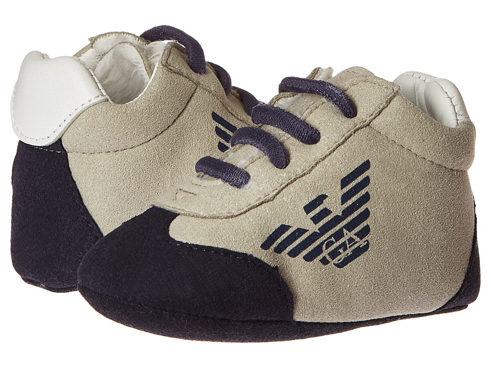 Armani Junior - Grey and Navy Sneaker (Infant) (Alloy) Boy's Shoes