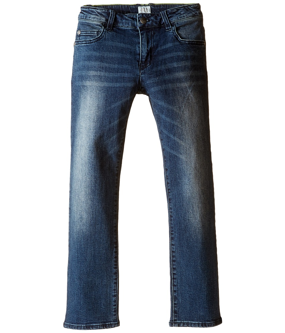 Armani Junior - Regular Fit Light Distressed Denim in Denim Indaco (Toddler/Little Kids/Big Kids) (Denim Indaco) Boy's Jeans