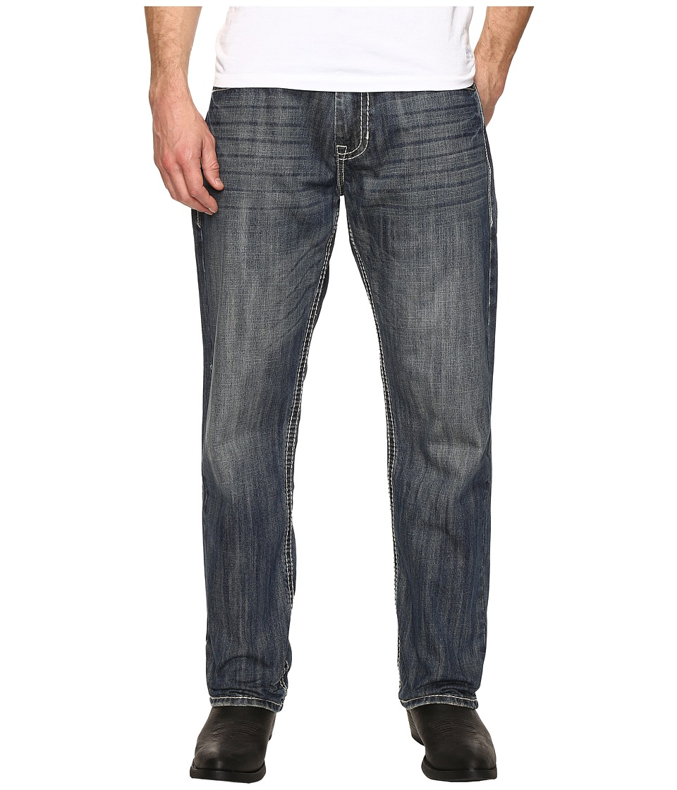 Rock and Roll Cowboy Jeans with Embroidery in Medium Wash M0T8544 (Medium Wash) Men