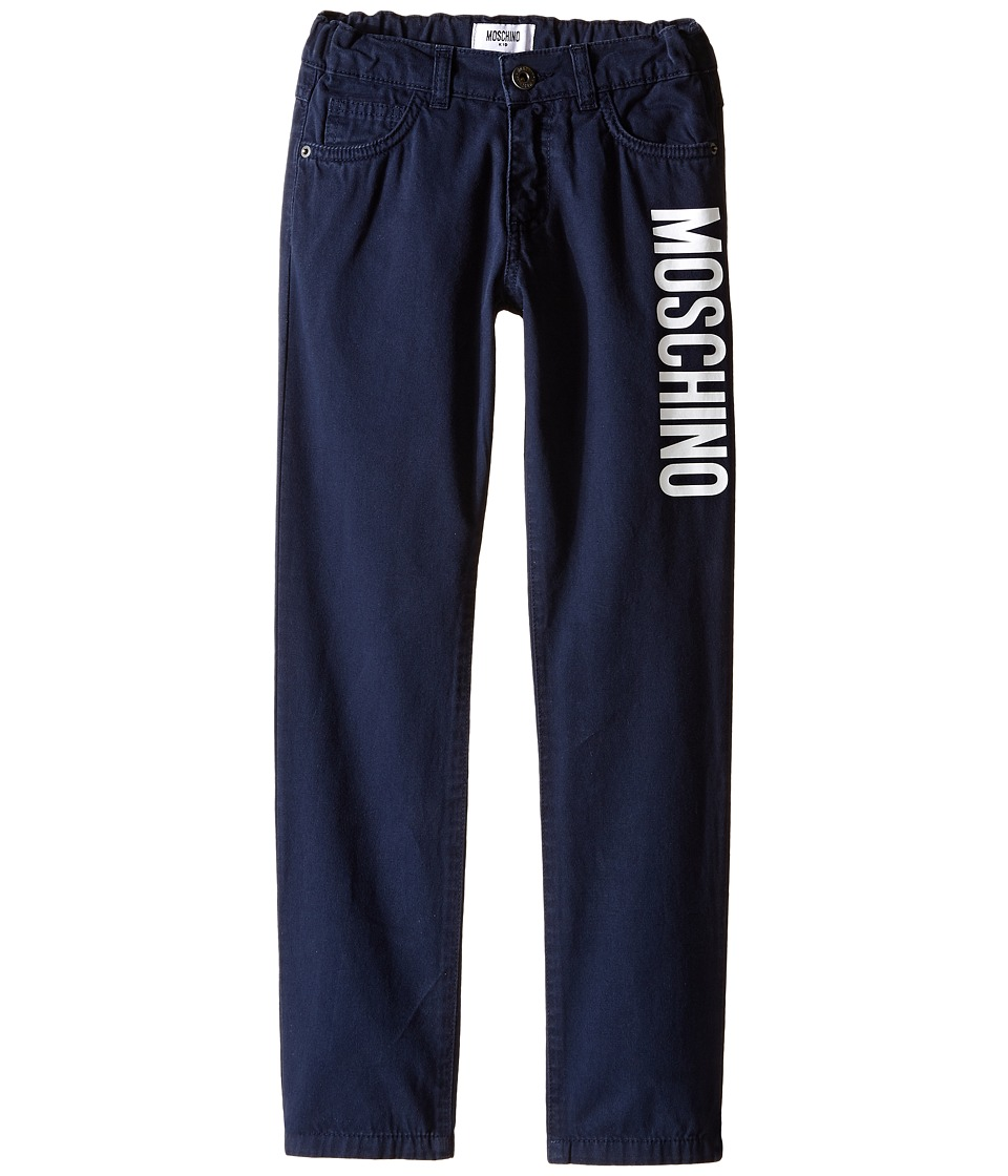 Moschino Kids - Color Blocks Trousers (Little Kids/Big Kids) (Blue Navy) Boy's Casual Pants