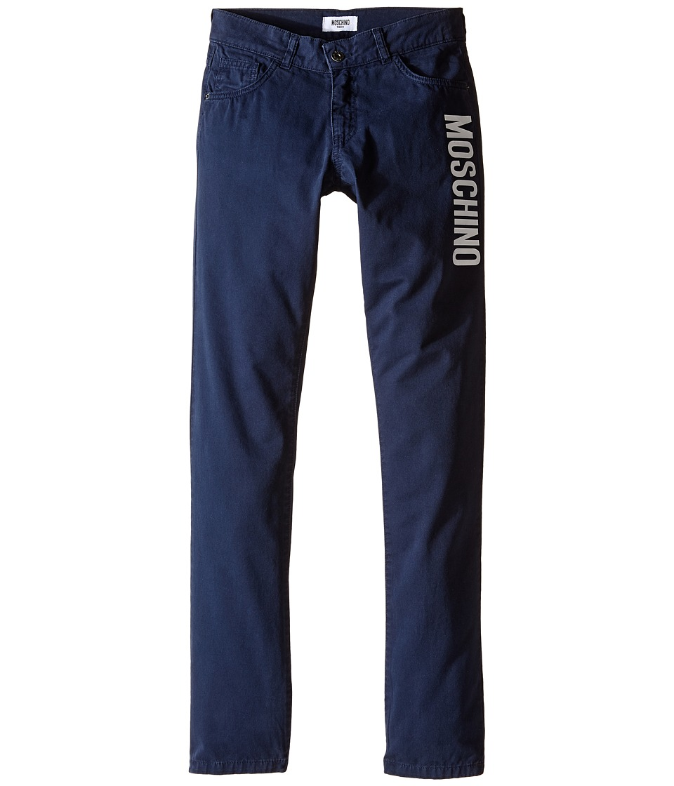 Moschino Kids - Color Blocks Trousers (Big Kids) (Blue Navy) Boy's Casual Pants