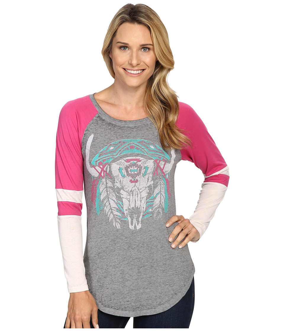 Rock and Roll Cowgirl - Long Sleeve T-Shirt 48T8209 (Hot Pink) Women's T Shirt