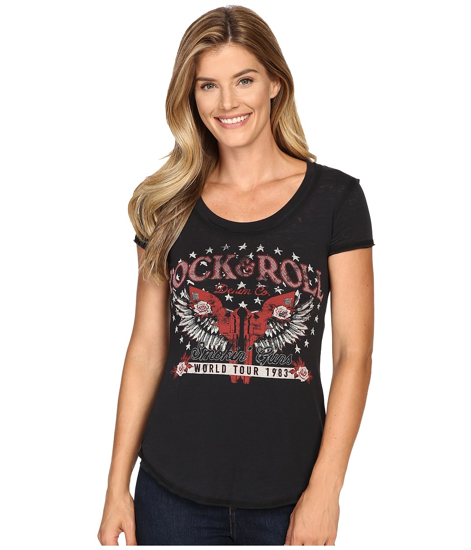 Rock and Roll Cowgirl - Short Sleeve T-Shirt 49T8186 (Black) Women's T Shirt