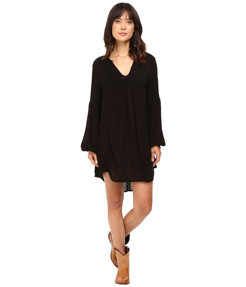Rock and Roll Cowgirl - Long Sleeve Dress D4-8247 (Black) Women's Dress