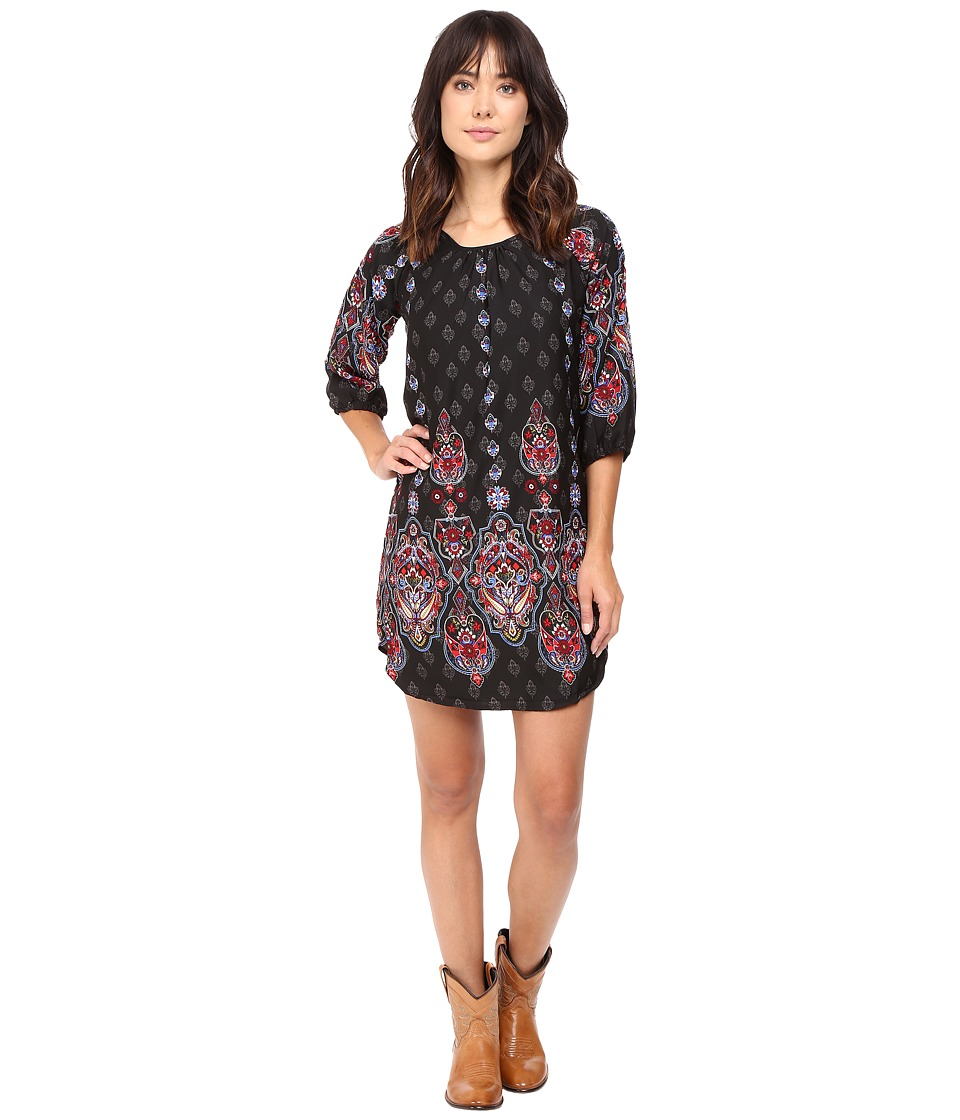 Rock and Roll Cowgirl - Long Sleeve Dress D4-8244 (Black) Women's Dress
