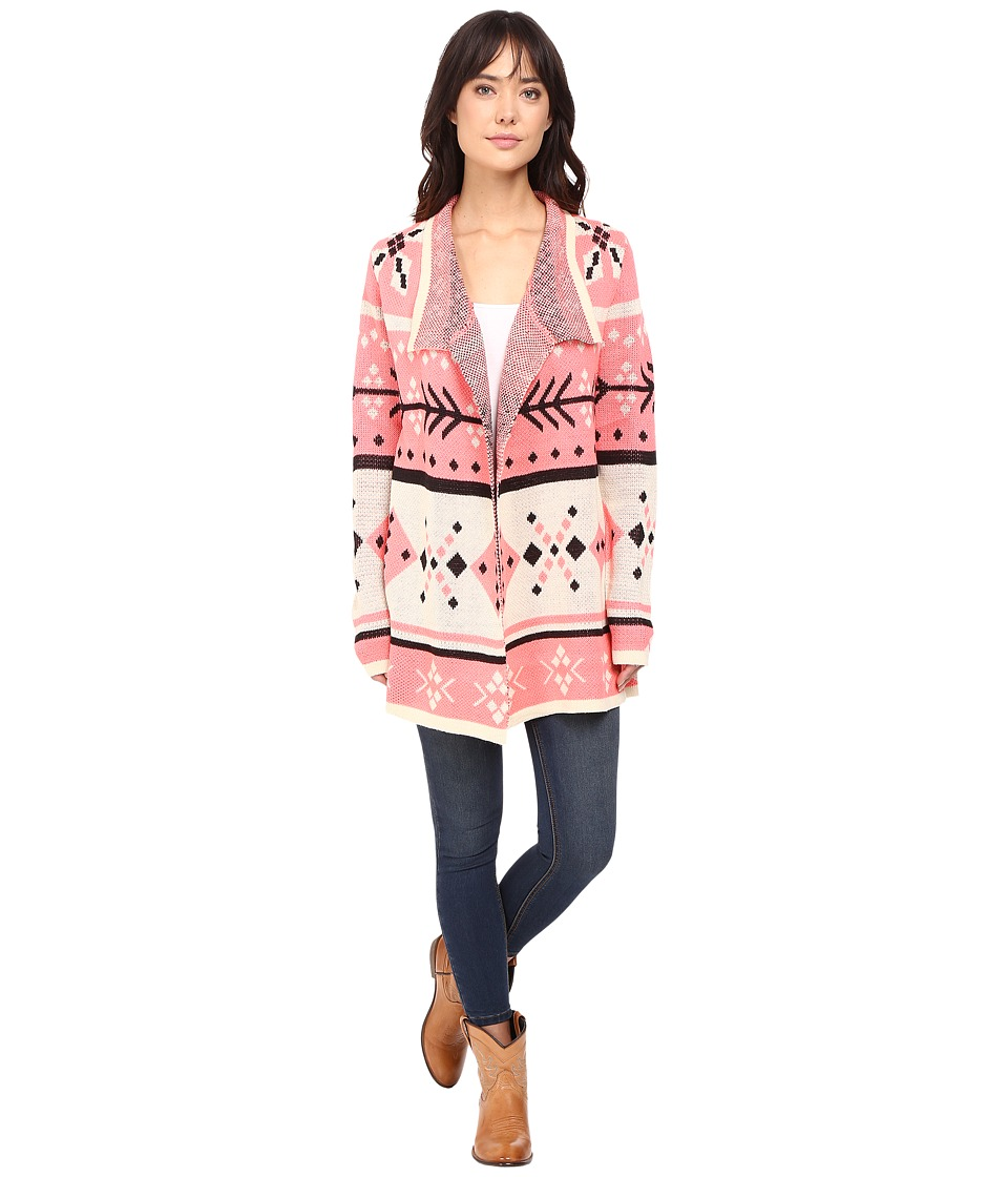 Rock and Roll Cowgirl - Long Sleeve Cardigan 46-8460 (Pink) Women's Sweater
