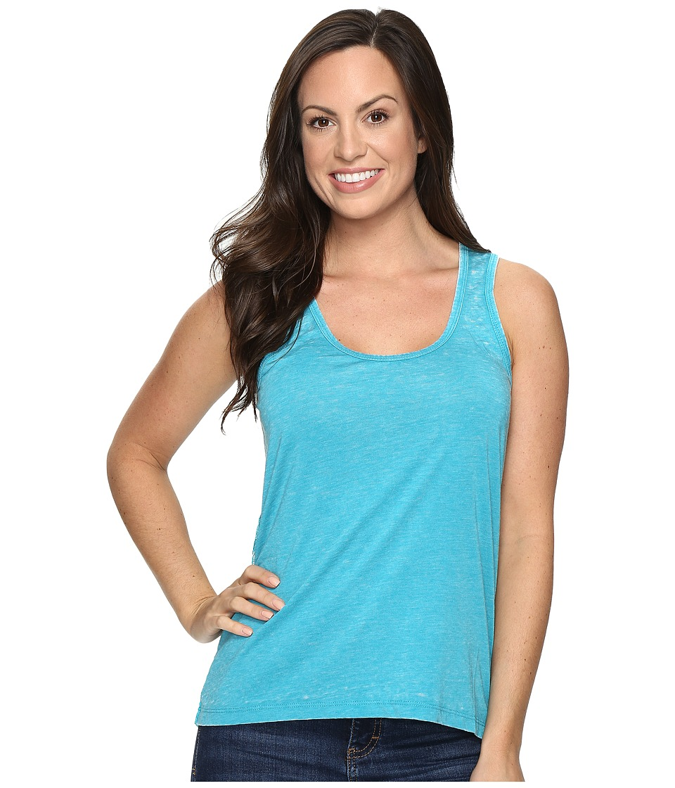 Rock and Roll Cowgirl - Hi Lo Knit Tank Top 49-8776 (Bright Turquoise) Women's Sleeveless