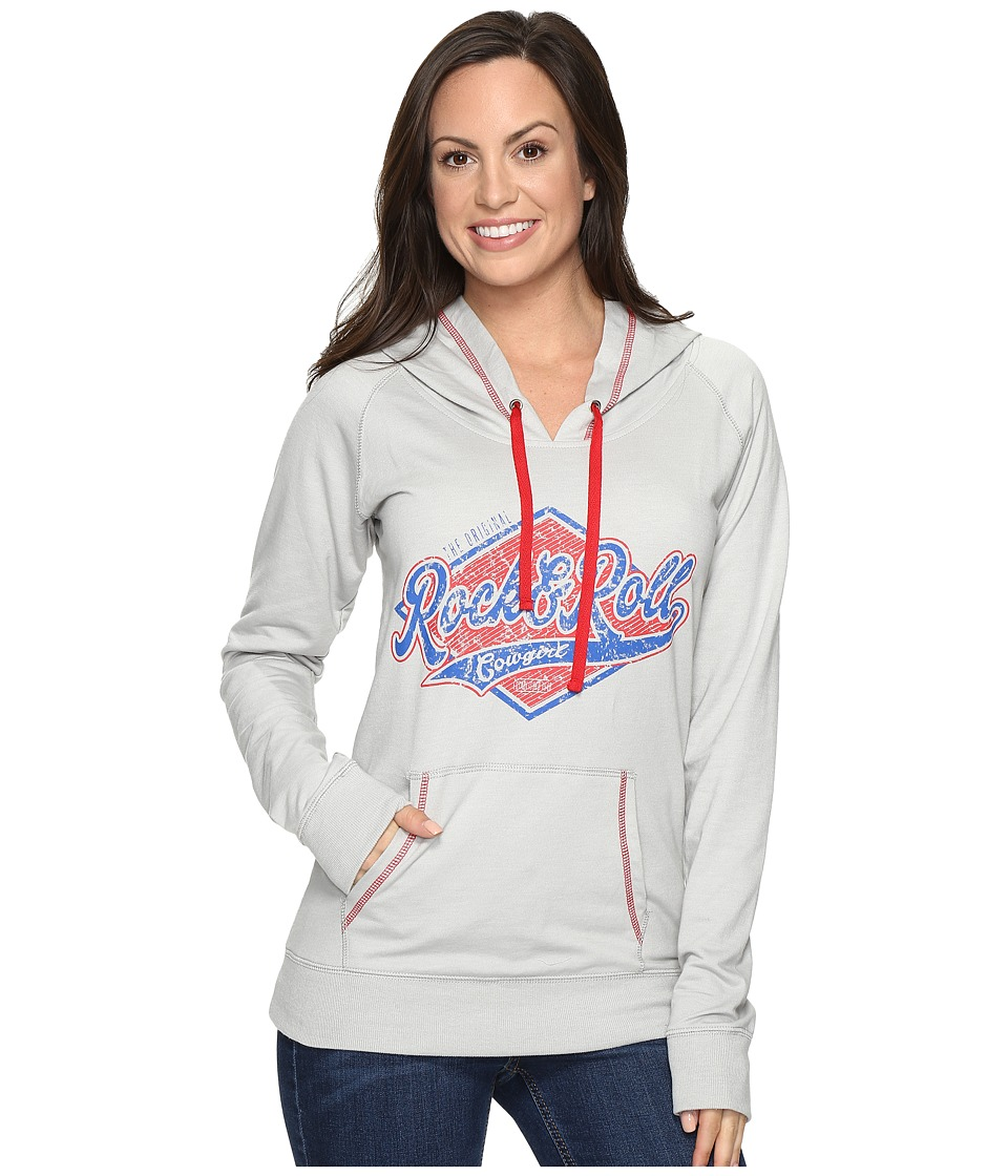 Rock and Roll Cowgirl - Pullover Hooded 48H8224 (Grey) Women's Clothing