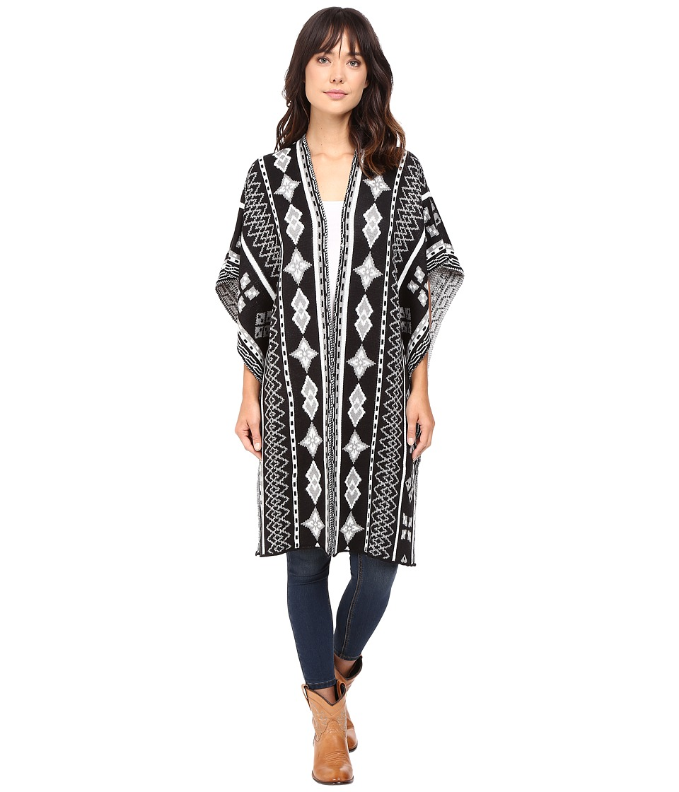Rock and Roll Cowgirl - Poncho 46-8458 (Black) Women's Clothing
