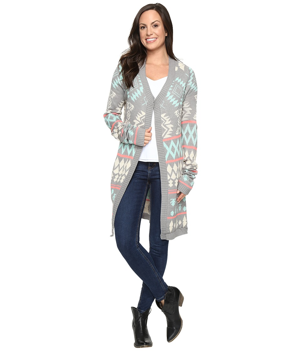 Rock and Roll Cowgirl - Long Sleeve Cardigan 46-8459 (Grey) Women's Sweater