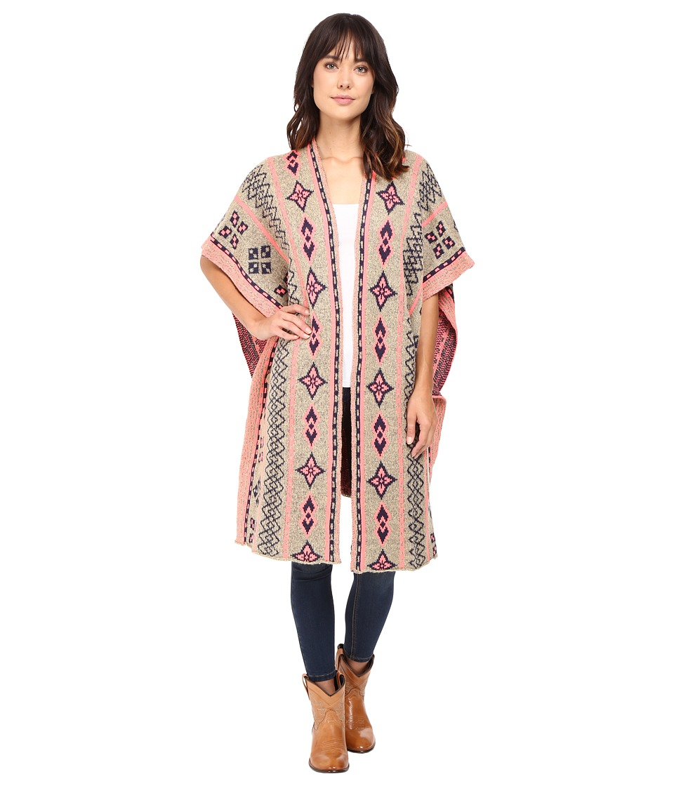 Rock and Roll Cowgirl - Poncho 46-8457 (Taupe) Women's Clothing