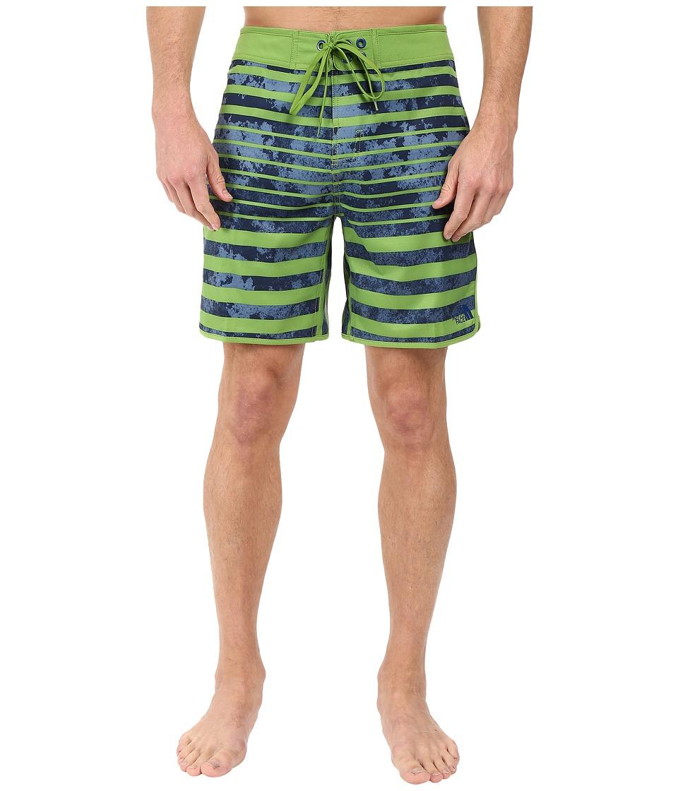 The North Face - Whitecap Boardshorts - Short (Vibrant Green Moss Stripe) Men's Swimwear