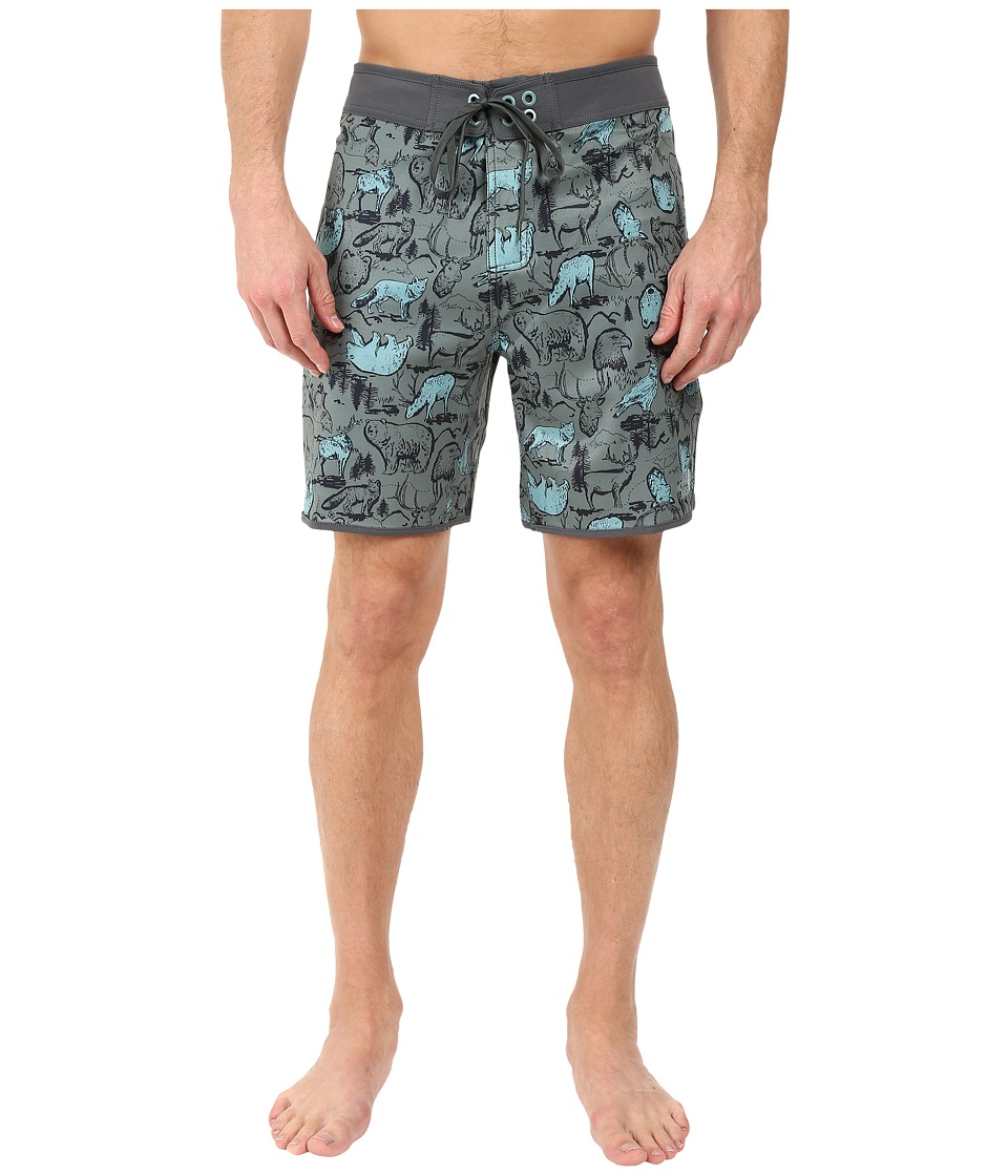 The North Face Whitecap Boardshorts Short (Laurel Wreath Green Wildlife Print) Men