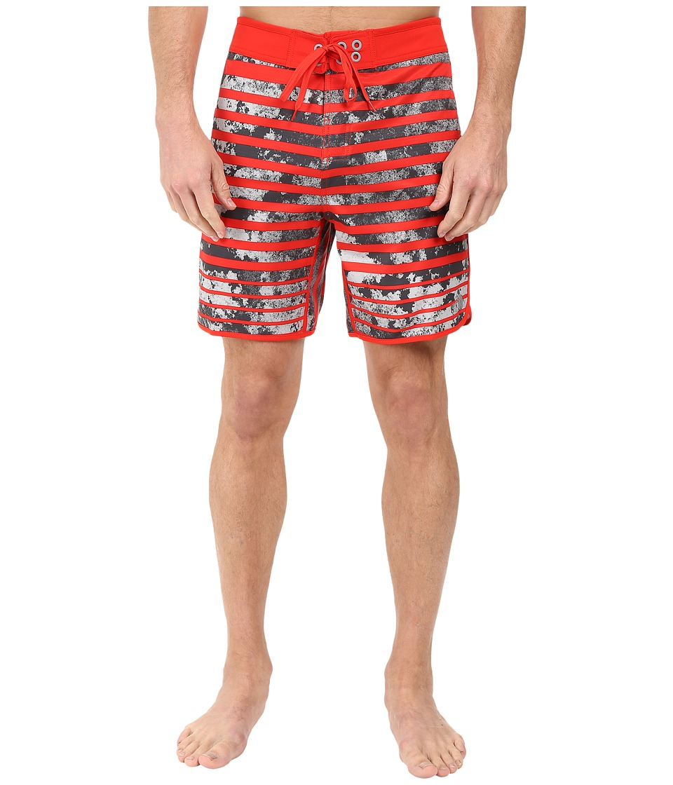 The North Face Whitecap Boardshorts Short (Fiery Red Moss Stripe) Men