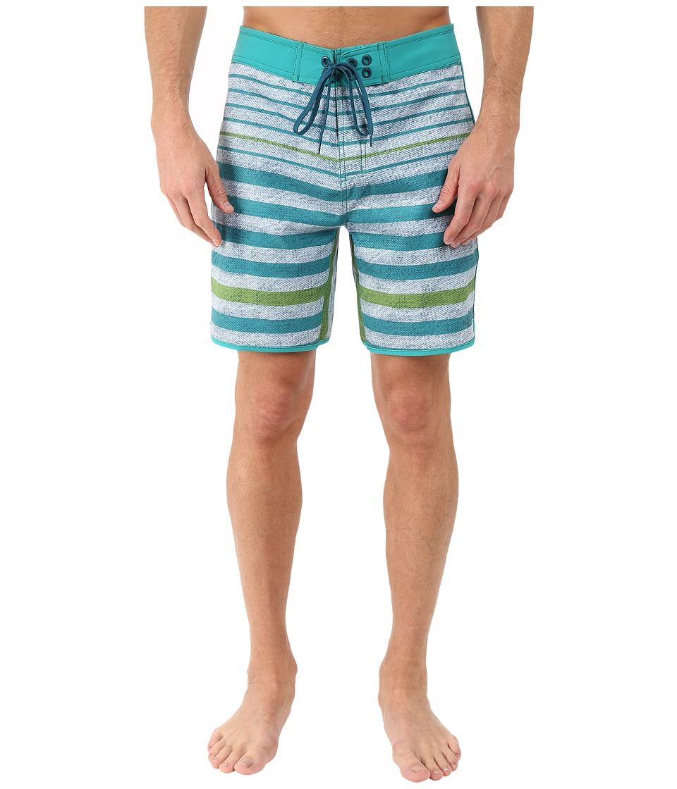 The North Face Whitecap Boardshorts Short (Vibrant Green Chambray Stripe) Men