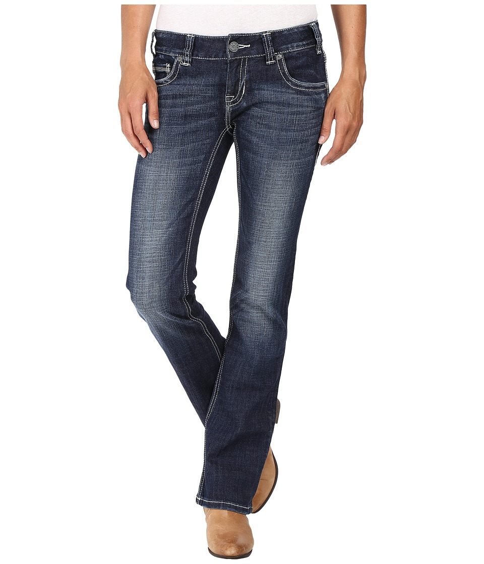 Rock and Roll Cowgirl - Low Rise Bootcut in Dark Vintage W0-8461 (Dark Vintage) Women's Jeans