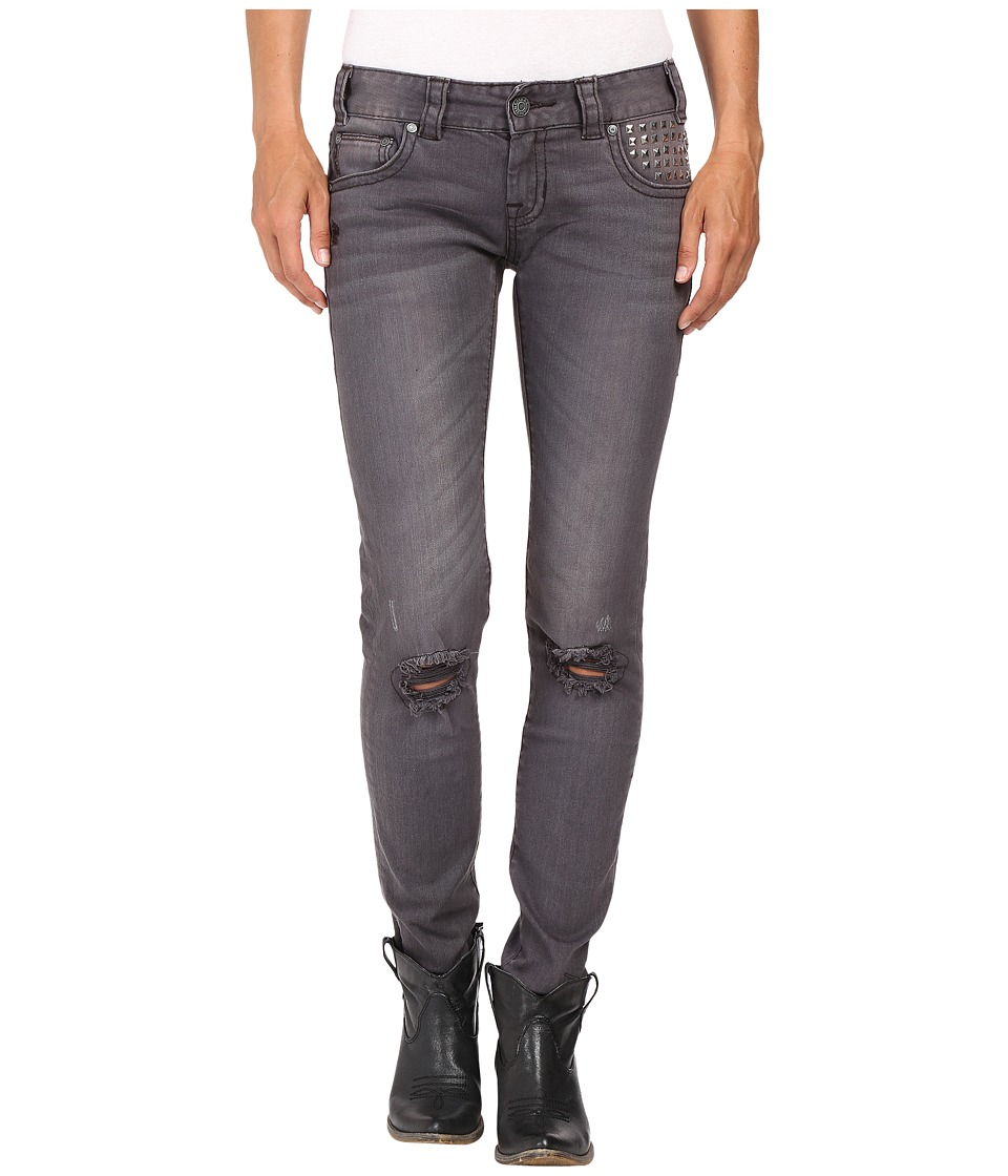 Rock and Roll Cowgirl - Low Rise Skinny in Grey Wash W0S8492 (Grey Wash) Women's Jeans