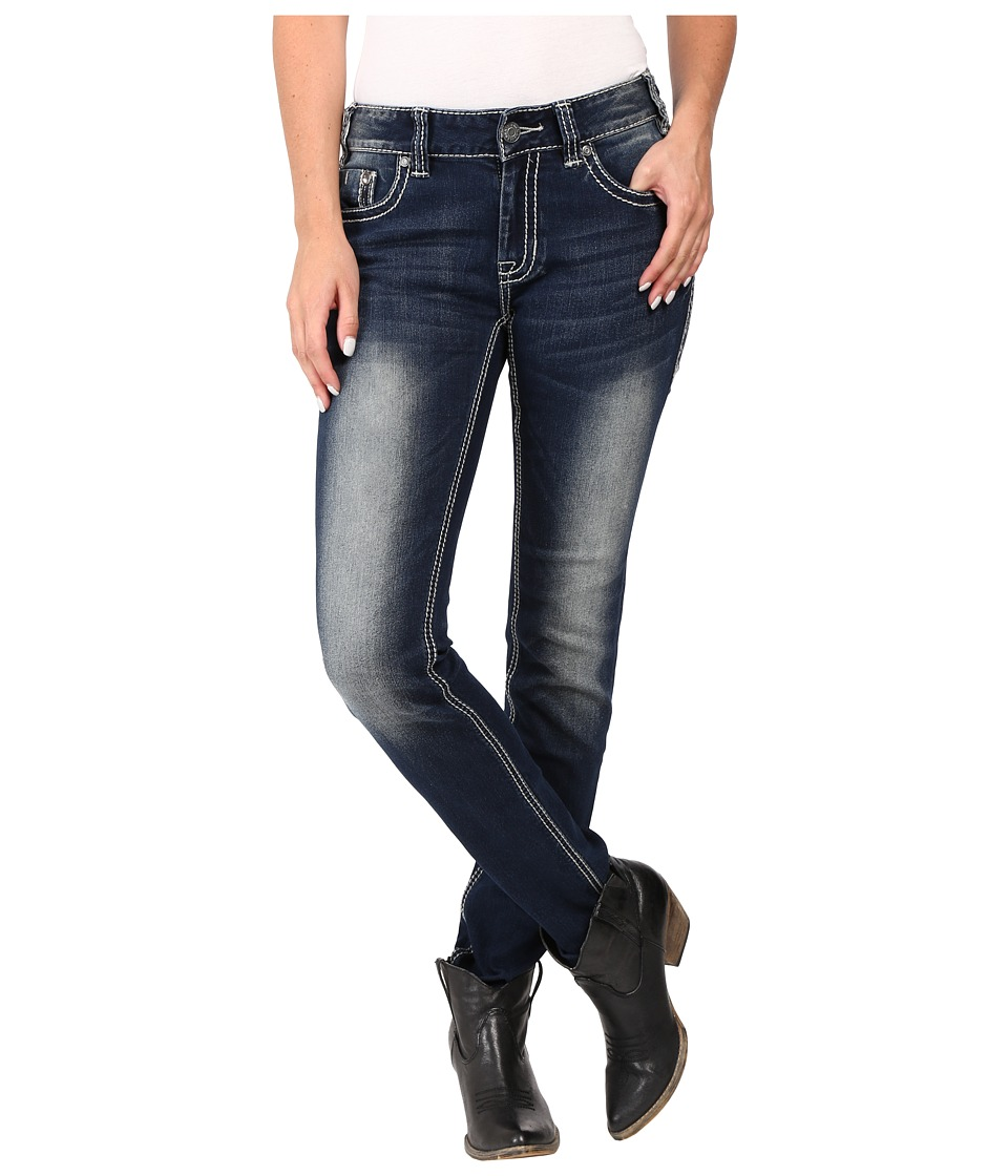 Rock and Roll Cowgirl - Mid-Rise Skinny in Dark Vintage W1S7387 (Dark Vintage) Women's Jeans