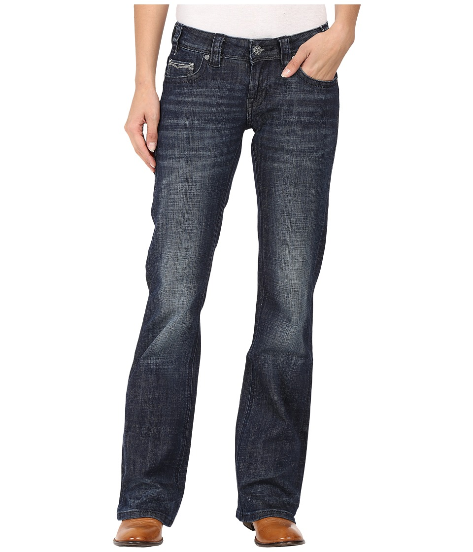 Rock and Roll Cowgirl - Riding Bootcut in Dark Wash W7-8466 (Dark Wash) Women's Jeans