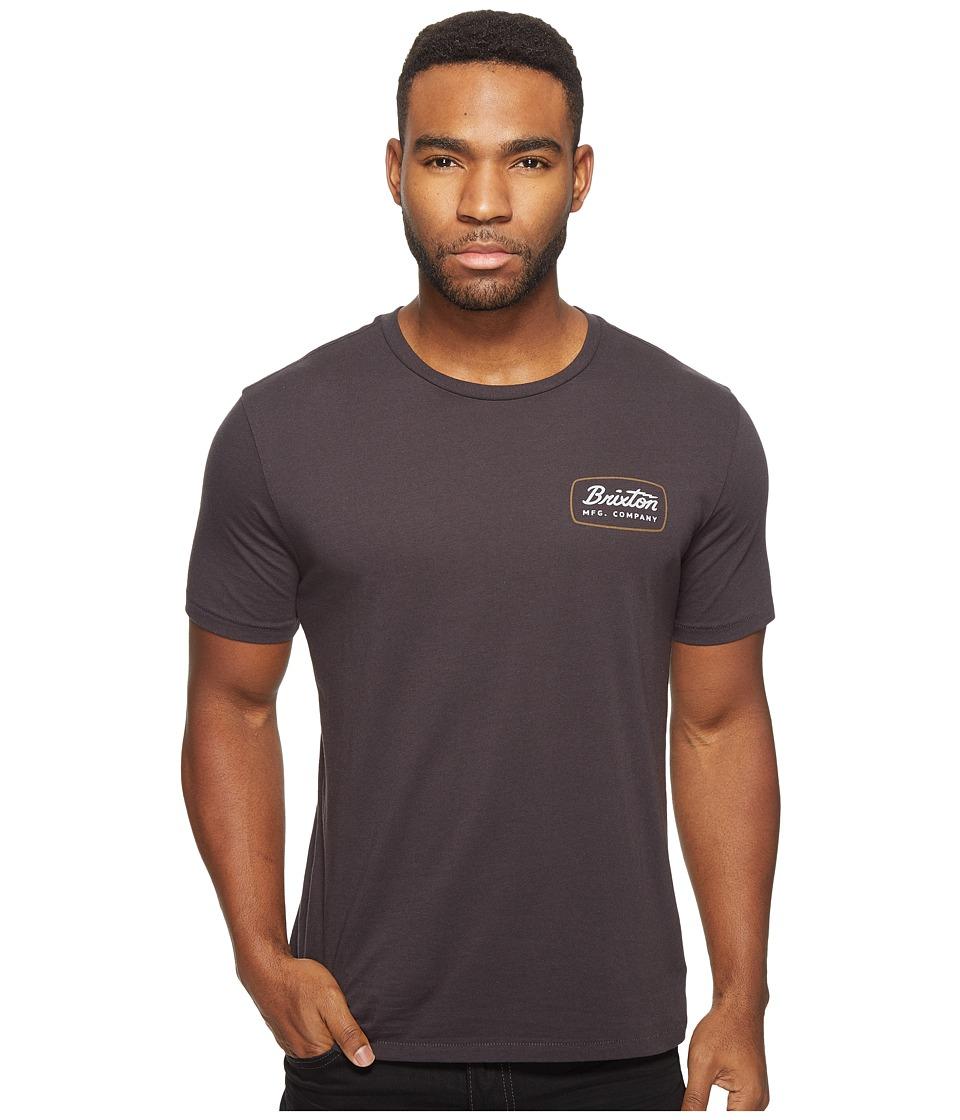Brixton - Jolt Short Sleeve Premium Tee (Washed Black) Men's T Shirt