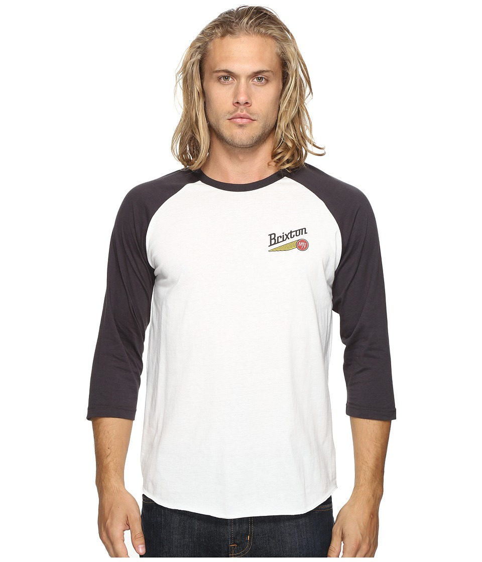 Brixton - Maverick 3/4 Sleeve Tee (Off-White) Men's T Shirt