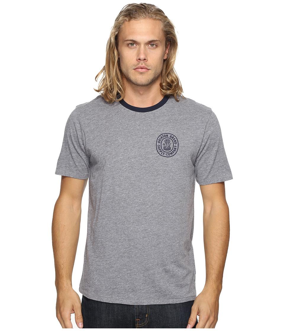 Brixton - Pace Short Sleeve Premium Tee (Heather Grey) Men's T Shirt