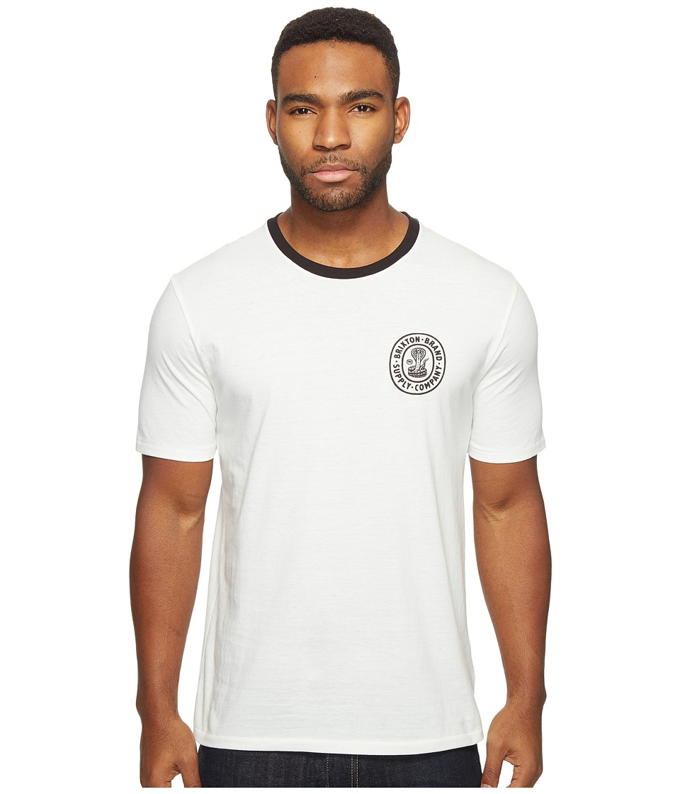 Brixton - Pace Short Sleeve Premium Tee (Off-White) Men's T Shirt