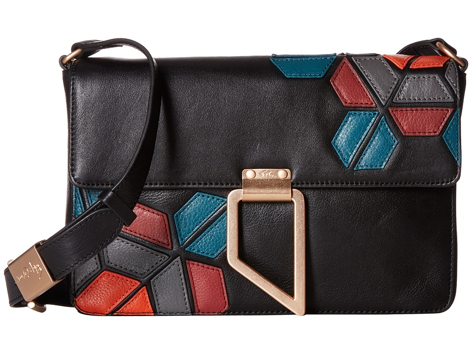 Foley & Corinna - Geo Patch Shoulder Bag (Black Multi) Bags