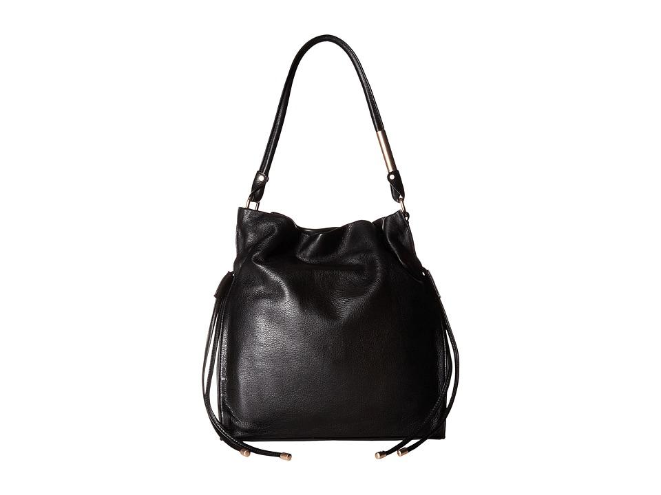 Foley & Corinna - Faye Drawstring (Black) Drawstring Handbags